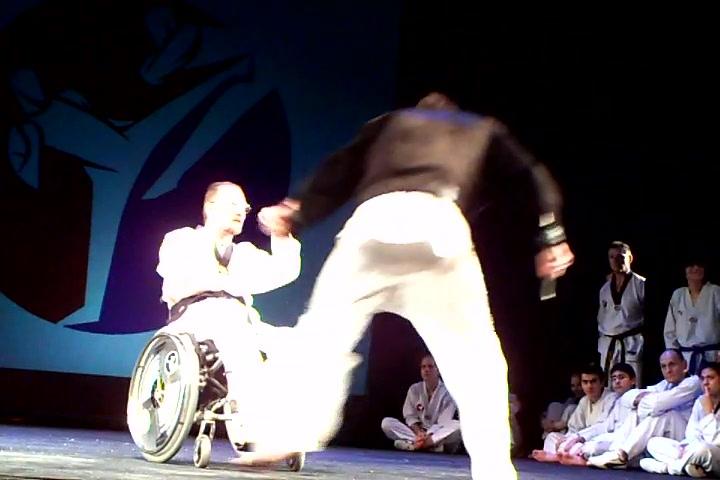 Wheelchair-Taekwondo at a Taekwondo-major-event in munich, 2011-01-15